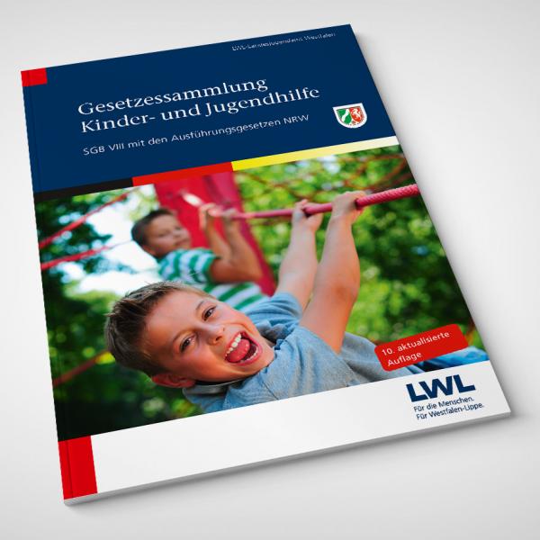 Umschlag der LWL-Gesetzessammlung Kinder- und Jugendhilfe, 10. Auflage (inklusive KJSG-Änderungen)